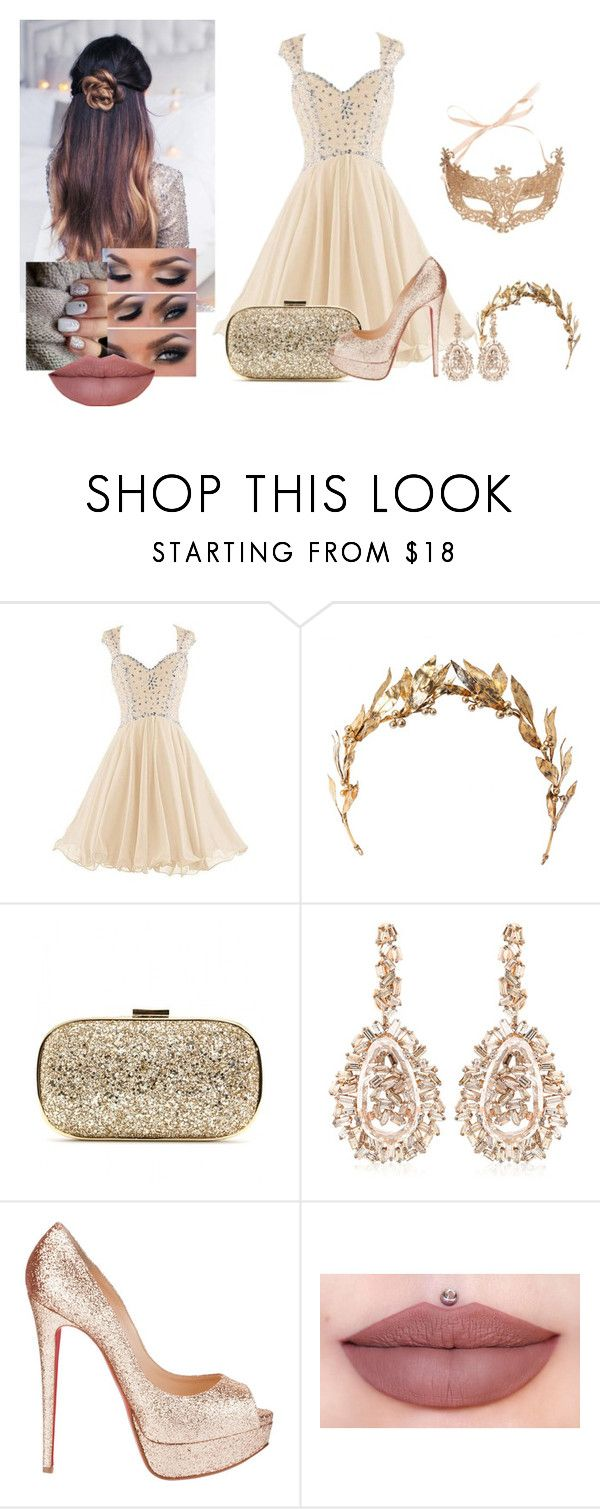 """Dlyn - Baile de Máscaras"" by larissamucilo13 on Polyvore featuring Anya Hindmarch, Suzanne Kalan, Christian Louboutin, women's clothing, women's fashion, women, female, woman, misses and juniors"