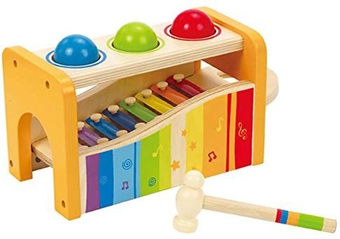 Amazoncom Hape Pound Tap Bench With Slide Out Xylophone Award