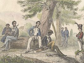 Convicts & soldiers in bush