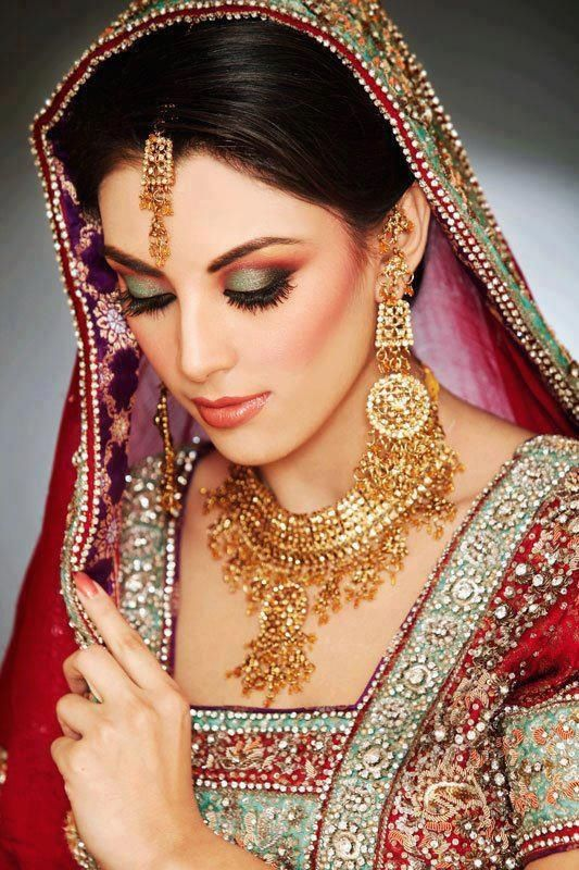 love this distinctive jewelry, and makeup too indian