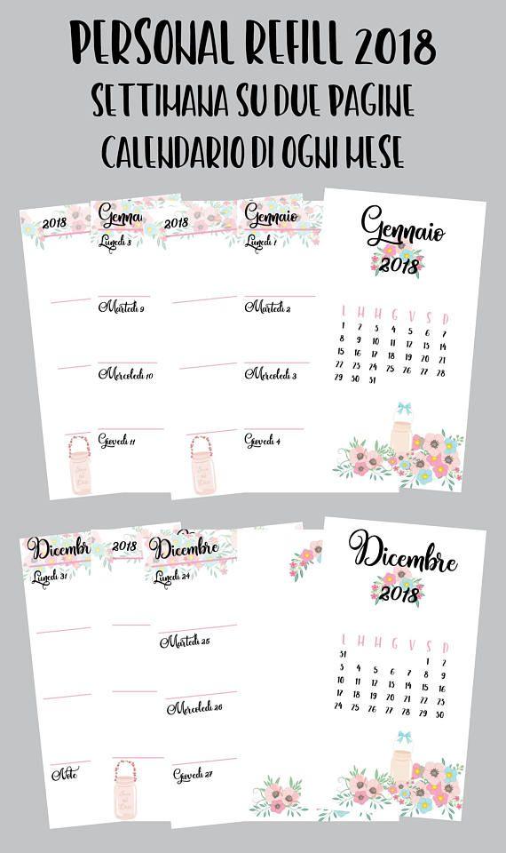Extrêmement Oltre 25 idee originali per Planner stampabile su Pinterest  JF44