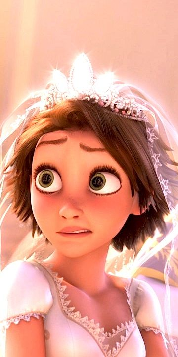 Heehee, rapunzel's face after Maximus and pascal bring the rings while they're soaked in tar. Priceless!!