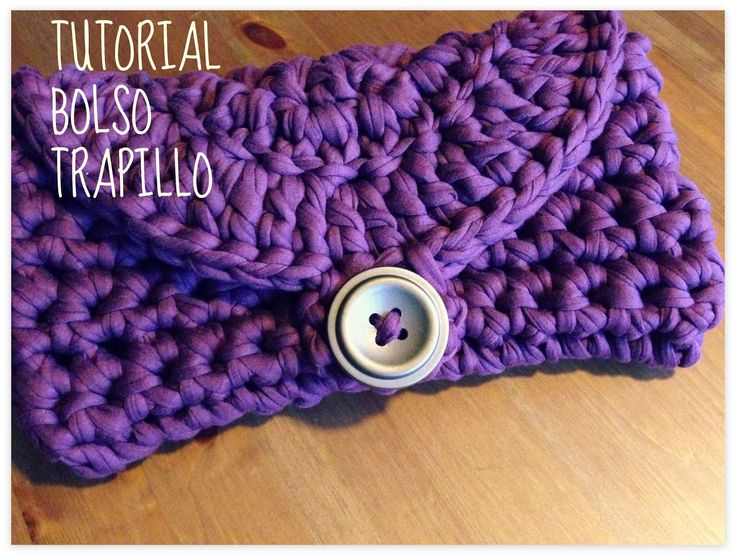 54 best images about fettuccia trapillo yarn for Bolso crochet trapillo