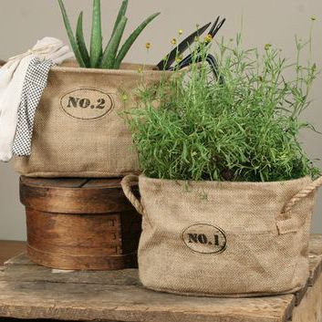 Our Burlap Planting Bags are the perfect blend of rustic style and versatile function. Use them as kindling, magazine or towel storage or planting herbs or flowers. Our sturdy Burlap...