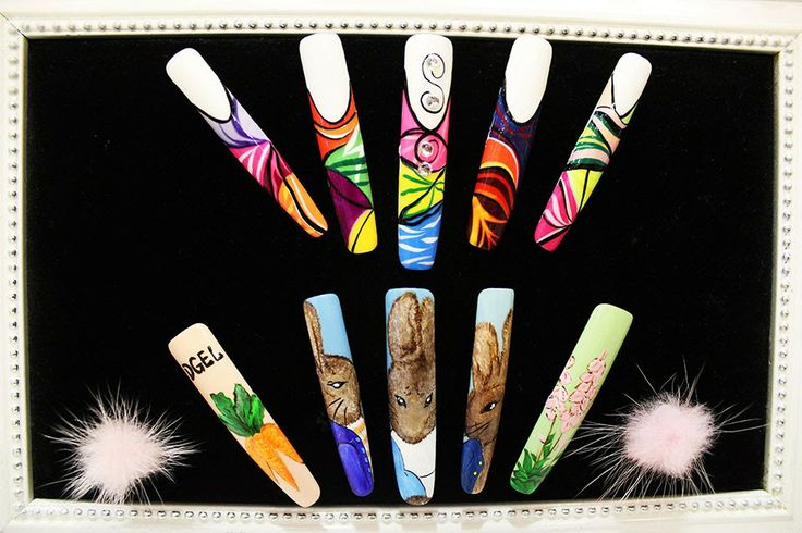 These many manicure nails are for the display.