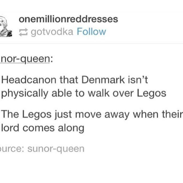 Hetalia - Denmark the Lego lord xD