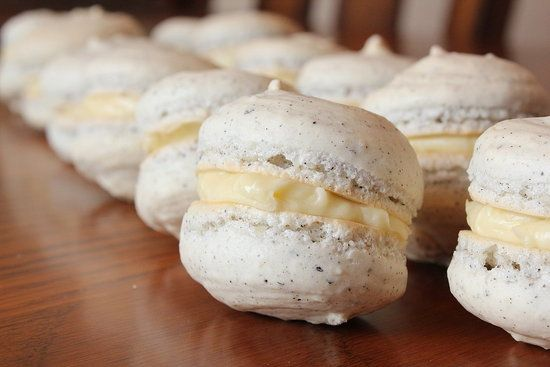 Earl Grey Macarons with Honey Buttercream Filling Recipe -- Tried and tested. WINNER. Dark chocolate insides. Even dulce de leche. Made these plain with dark chocolate filling.