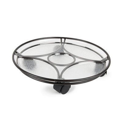 Plastec Delray Saucer Plant Caddy
