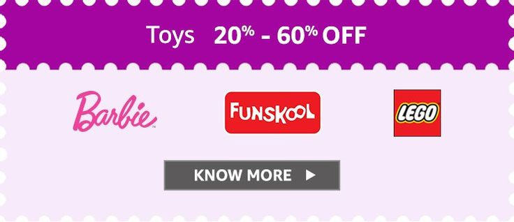 20-60% off on Toys