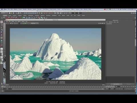 Maya 2011 Create Organic Terrain from Custom PS/CS5  Displacement Map Tutorial by Stuart Christensen