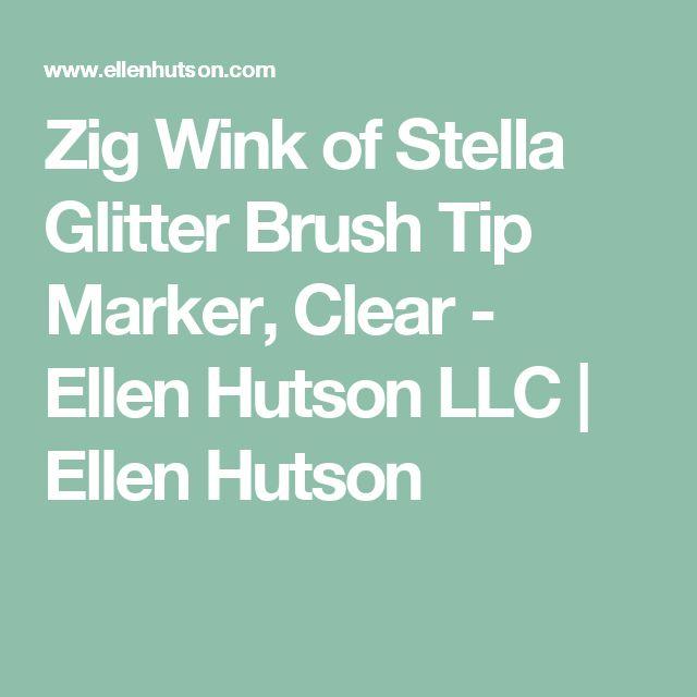Zig Wink of Stella Glitter Brush Tip Marker, Clear - Ellen Hutson LLC | Ellen Hutson