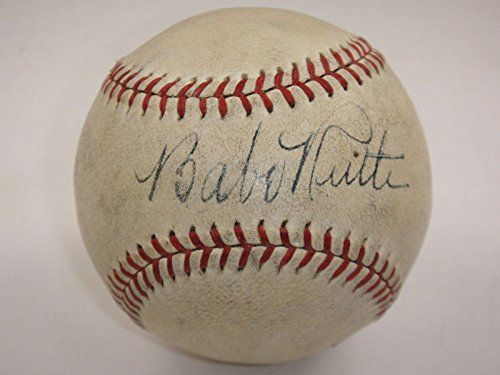 Babe Ruth Autographed Baseball - Single Official Certified Authentic - JSA Certified - Autographed Baseballs -- Visit the image link more details.