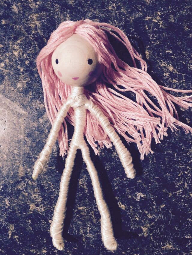 Wrapped wire doll- she is bendy and perfect for little hands. Only took an hour to make! Follow instructions here: http://theenchantedtree.blogspot.ca/2010/10/new-bendy-dolls-and-tutorial.html?m=1