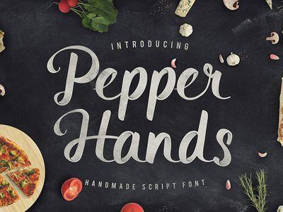 Pepper hands - handmade script font