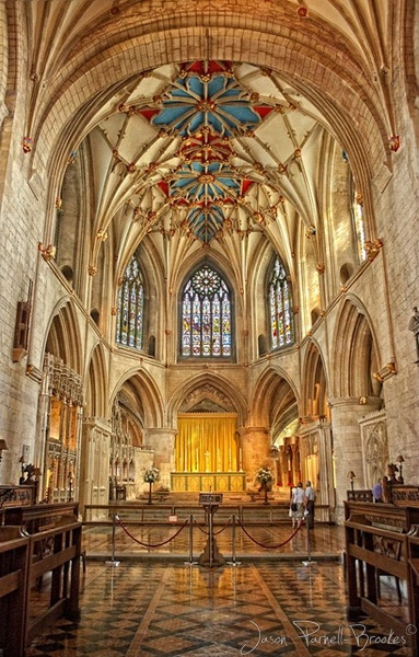 Tewkesbury Abbey, England.