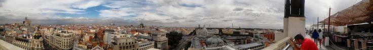 Probablemente la mejor vista aérea de Madrid, desde la terraza del Círculo de Bellas Artes - http://www.circulobellasartes.com