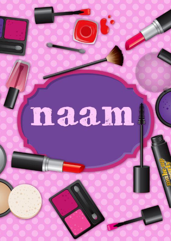 YVON Make up eigen naam rh roze 1