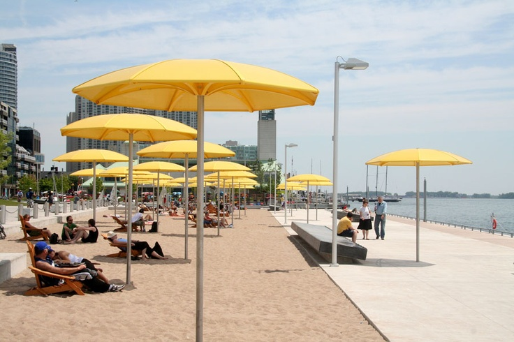 One of Toronto's newer sandy beaches at Harbourfront  -- almost makes you forget you're downtown in Canada's largest city! #McCainAllGood