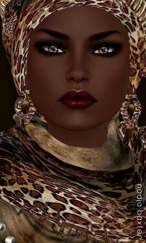 Black art-Nubian Queen