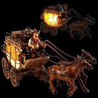 Cowboy Tabletop Lamp - Western Cowboy Gus Stagecoach Nightlight-novelty lighting western themed cowboy bedroom lighting