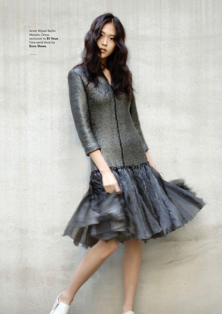 Verve Magazine Et Vous Anett Rostel Metallic Dress