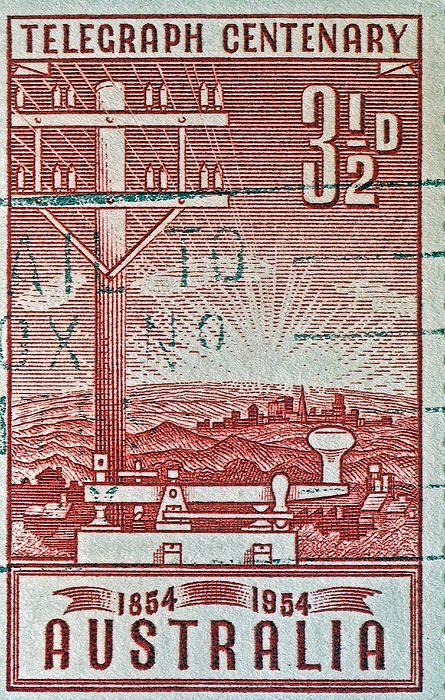 1954 Centenary of Australian Telegraph