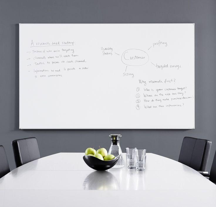 Jak tablica magnetyczna może być wykorzystana w biurze  Tablica magnetyczna to wszechstronny i łatwy w pielęgnacji element wyposażenia. Służy to prezentowania, komunikowania treści na spotkaniach oraz dzielenia się pomysłami. Można jej także używać jako tablicy ogłoszeniowej lub w trakcie szkoleń.