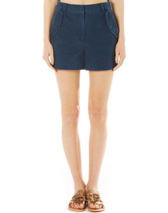 Cotton Pocket Detail Shorts