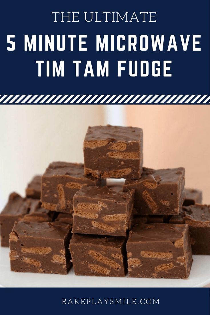 5 Minute Microwave Tim Tam Fudge    #tim #tam #fudge #best #recipe #microwave #easy