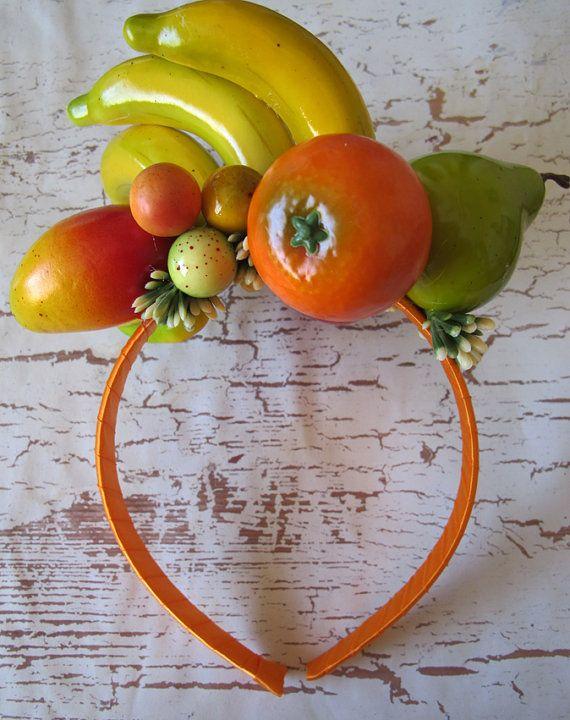 Tropical Fruits Headband Carmen Miranda style by olgadesigns