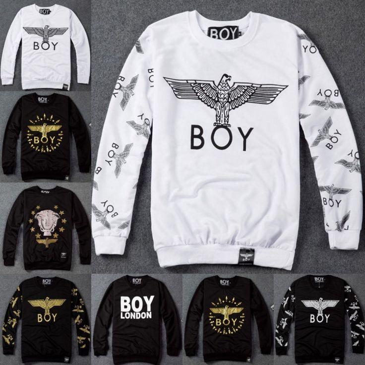 Лондон 2015 зима орел мальчики Harajuku молния схеме печать панк мода любители толстый с длинными рукавами спортивную куртка пуловер