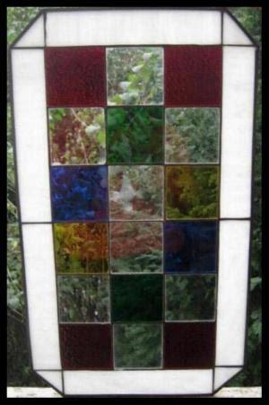 Panel de vidrio de la ventana. Cuadrado de por Lartistadelvetro