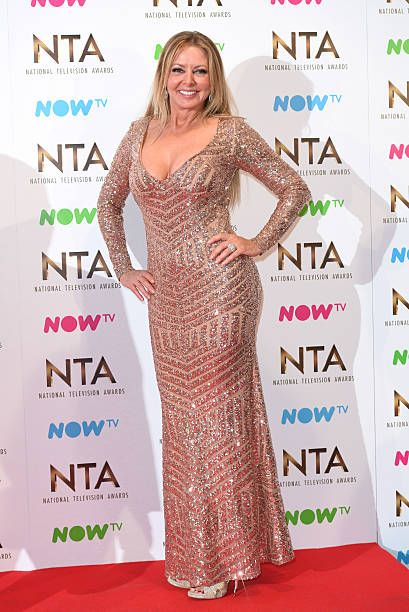 9ef5e5bb97d7 Carol Vorderman poses in the winners room at the National Television Awards  at The O2 Arena on January 25 2017 in London England