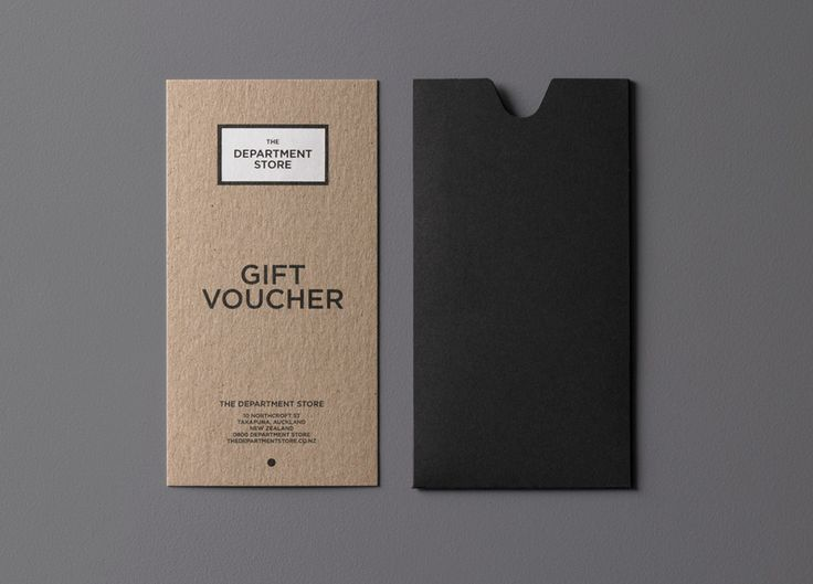 The Department Store // gift voucher