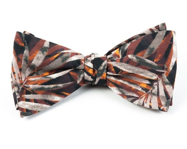 CORNWALL LEAVES BOW TIES - BURNT ORANGE | Ties, Bow Ties, and Pocket Squares | The Tie Bar