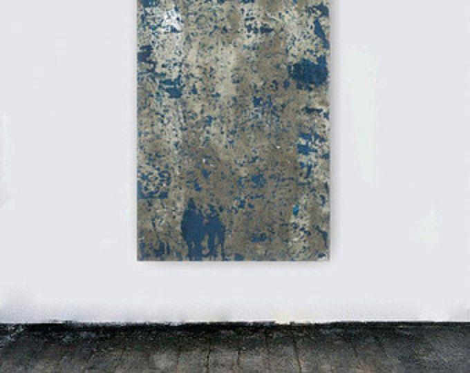 Tela arte grande astratta pittura enorme parete minimalismo moderno di alzavola blu grigio bianco pittura concreta grigia di arte contemporanea