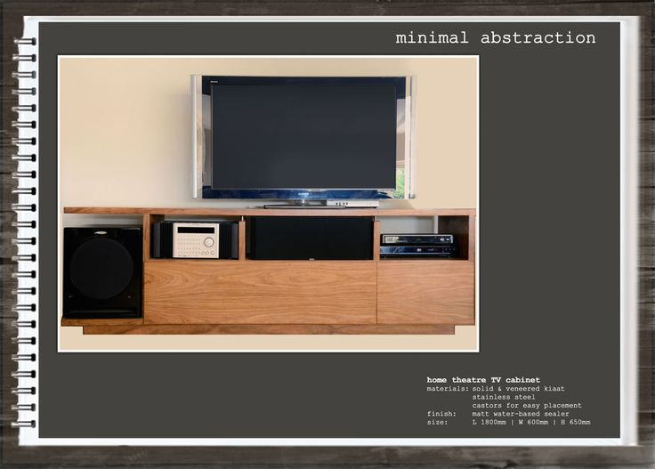 Minimal Abstraction: Home Theatre TV Cabinet