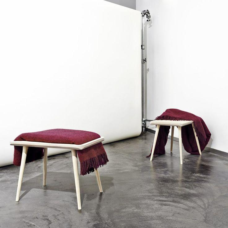 clever stool/blanket holder: monq designs