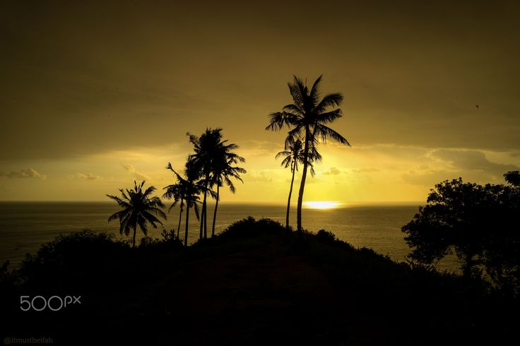 Almost Sunset - I took this picture when I went to Lombok, Indonesia.