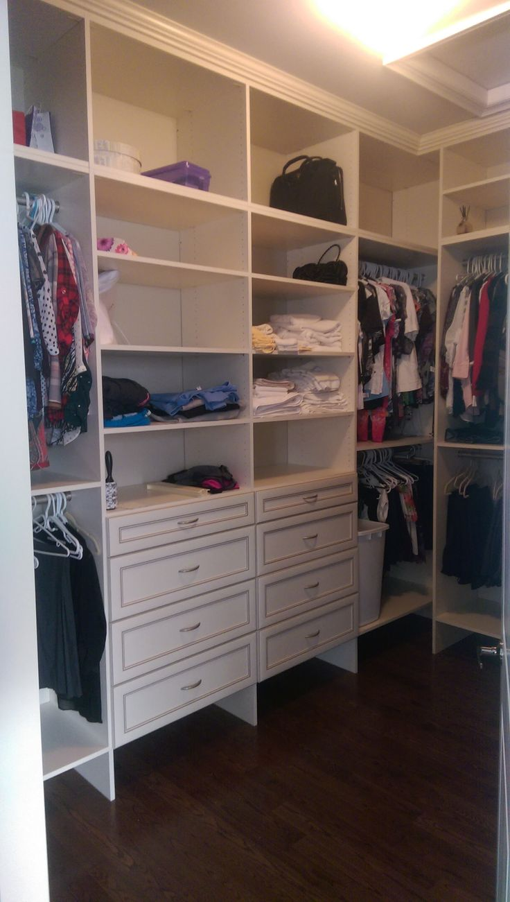 Add shelves and drawers to help organize your closet