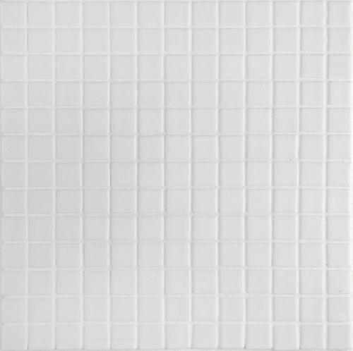 Ezarri White - Pure white gloss-finish glass mosaic tile. Chip size 2.5x2.5cm.