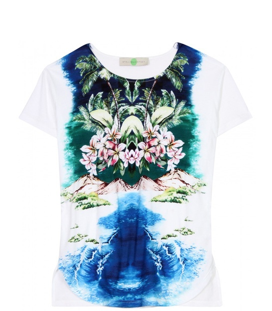 Stella McCartney    Hawaiian print cotton t-shirt, €185.