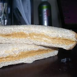 The school lunch lady peanut butter sandwiches. These were always THE BOMB.