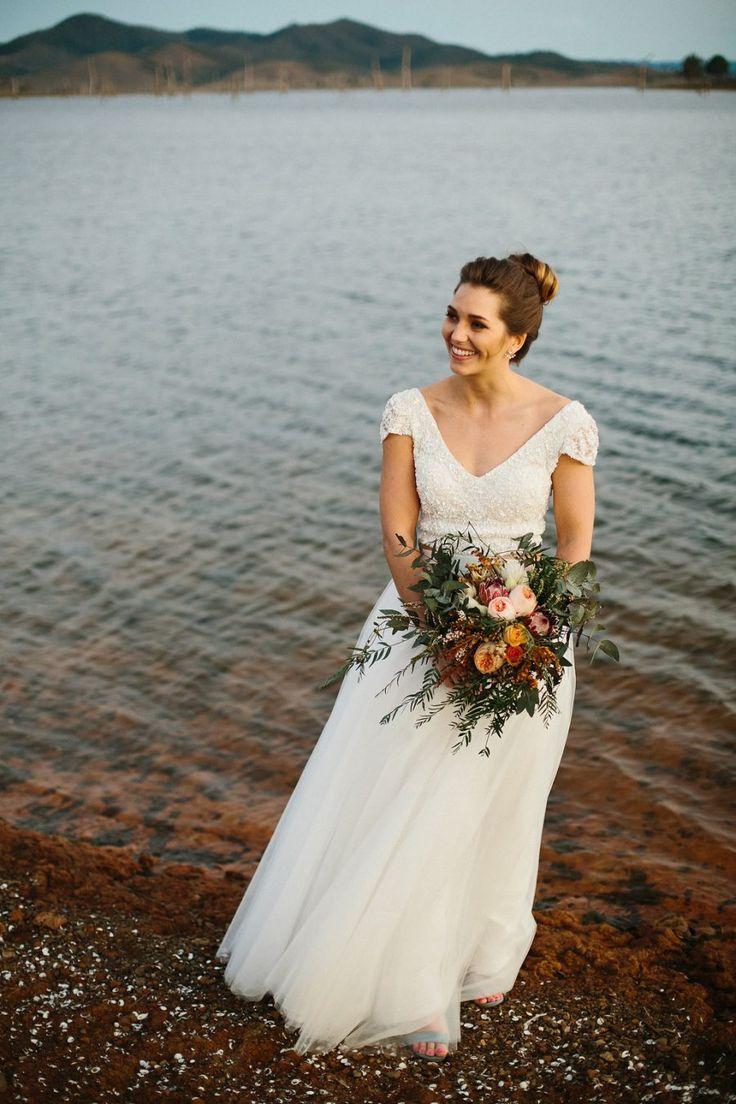 Lisa robertson in wedding dress - Simple Sequin Two Piece Wedding Dress