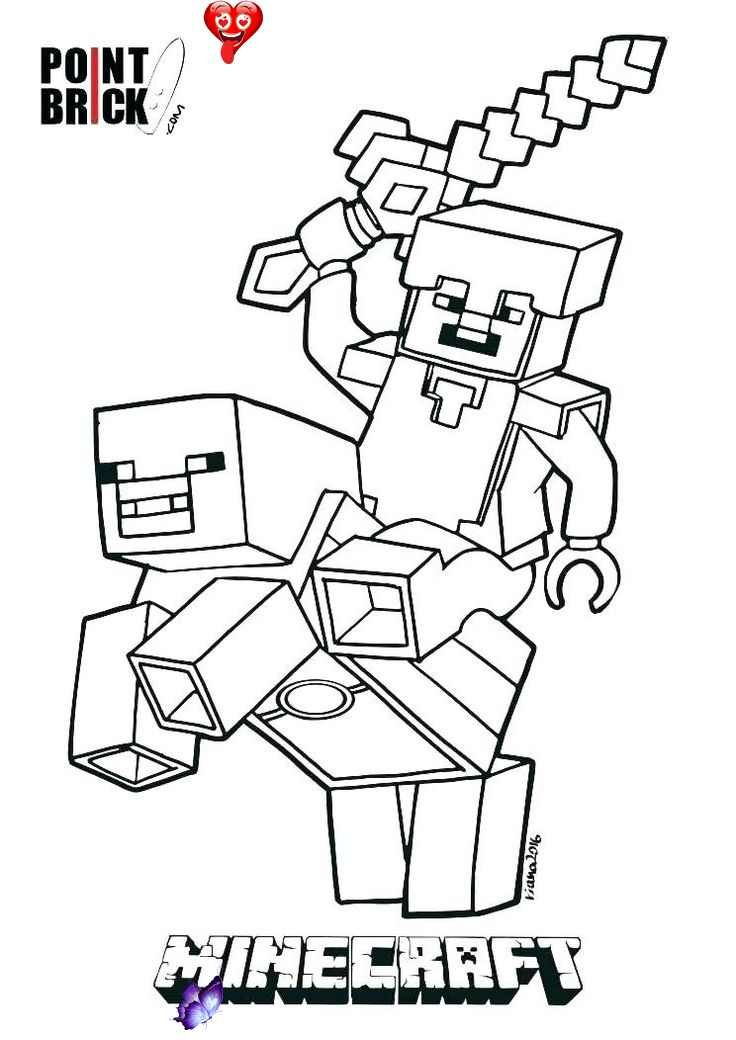 Minecraft Christmas Colouring Pages - Doraemon