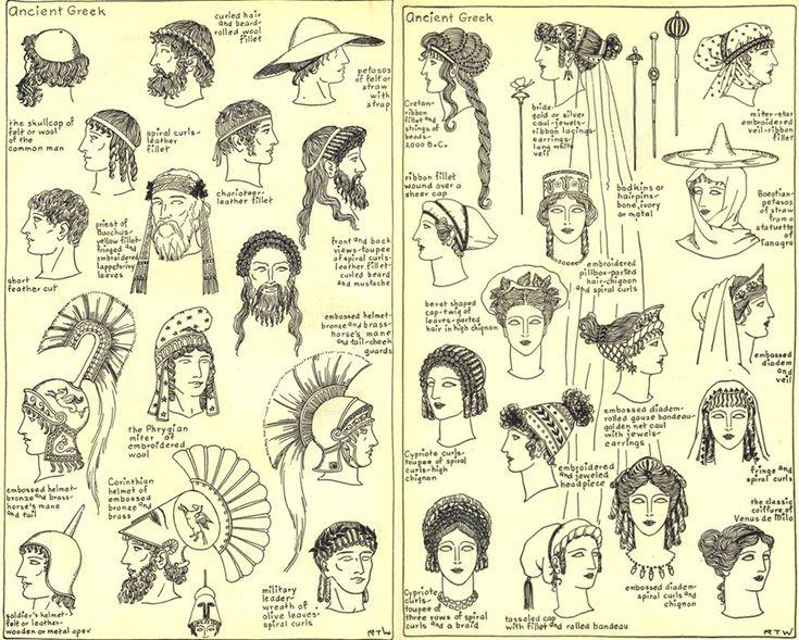 Peinados en la antigua Grecia.
