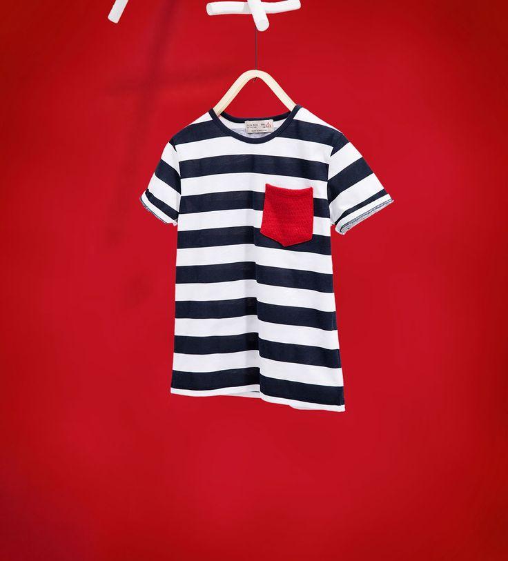 스트라이프 티셔츠-모두 보기-티셔츠-BOY | 만4세-14세-KIDS | ZARA 대한민국