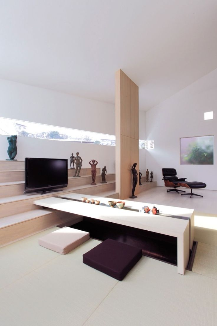 Eames lounge chair living room - Living Room Ideas Minimalistic Japanese Interior Featuring The Eames Lounge Chair