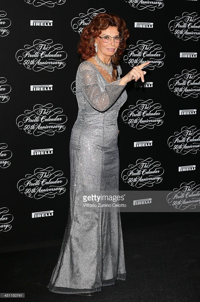 Sophia Loren attends the Pirelli Calendar 50th Anniversary event on November 21, 2013 in Milan, Italy.