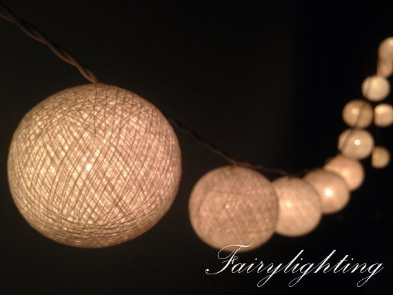 35 Cotton Ball Lights for home decorationwedding by fairylighting